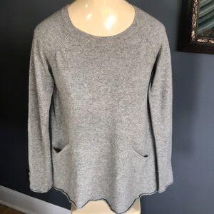 Sundance gray wool/cashmere/angora blend sweater